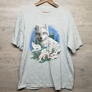 Vintage 1994 White Wolf T Shirt. AMAZING! Perfect!
